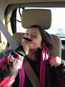 Alyx rocking a moustache.