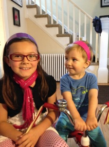 Alyx and Jude sporting headbands