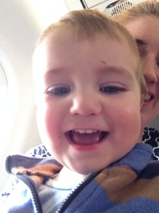 On the airplane!